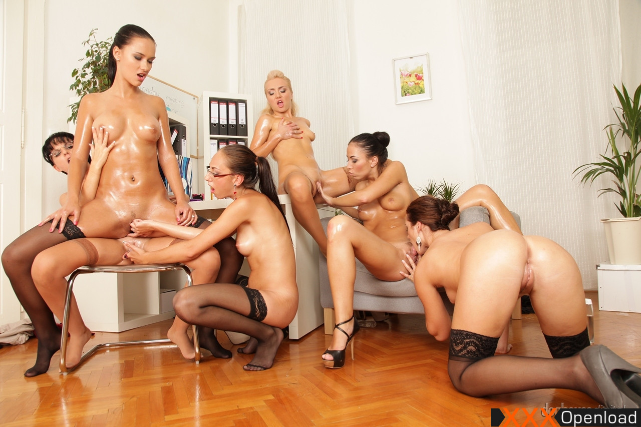 Lesbian oil orgy